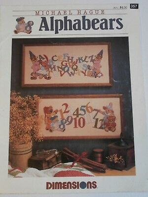 Alphabears number alphabet sampler Cross Stitch Chart