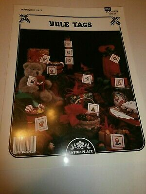 Yule Tags  Gift Tags Cross Stitch Leaflet Christmas Angel Tree