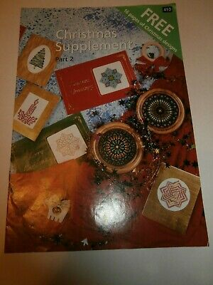 Christmas Supplement Part 2 Cross Stitch Chart Stained Glass Star Tree