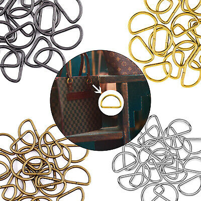 10/20pcs Non Welded D Rings Buckles for Fastening Webbing Pet Collars Arts Craft