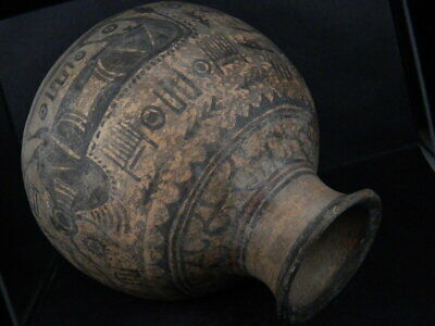 Ancient Large Size Teracotta Painted Pot With Bulls Indus Valley 2500 BC #Ik503