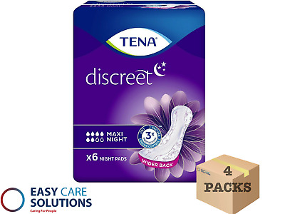 TENA Lady Maxi Night 3 Packs of 6 Disposable Pads For Bladder Weakness(18 Total)