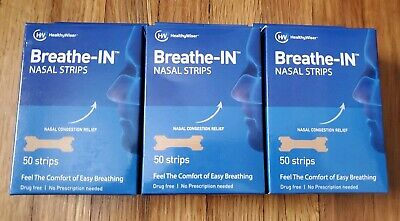 HealthyWiser Breathe In Nasal Strips Nose Congestion Relief (150 Strips 3 Boxes)