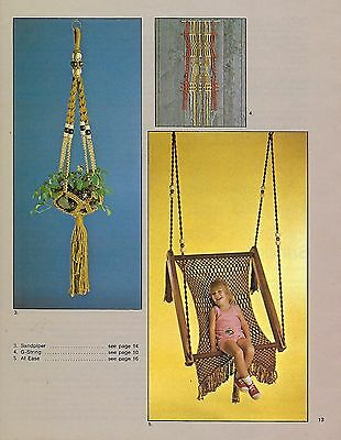 Hanging Macrame Chair Swing Pattern Instructions macrame Today Craft Book MM144
