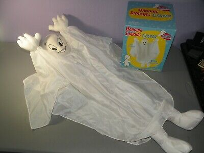 Casper The Friendly Ghost Hanging Shaking 1998 Gemmy halloween Works With Box