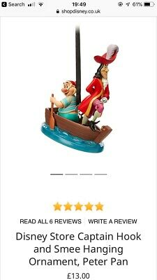 Disney Store Captain Hook and Smee Hanging Ornament, Peter Pan