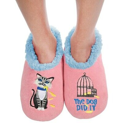 Ladies Slipper Snoozies! The Dog Did It Design Ideal  Gift