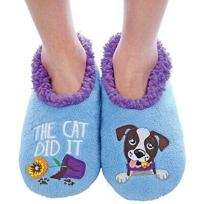 Ladies Slipper Snoozies! The Cat Did It Design Ideal  Gift