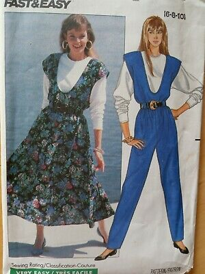Vintage Butterick SEWING Pattern 4803 EASY-2-SEW Jumper UNCUT 6-22