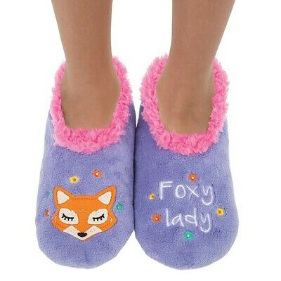 Ladies Slipper Snoozies! Foxy Lady Design Ideal  Gift