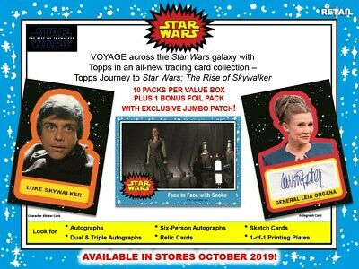 2019 Topps Star Wars Journey to Rise of Skywalker 10ct Blaster Box PRESALE 10/4
