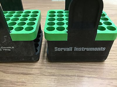 Lot of 4 Sorvall DuPont Model 00836 Green Inserts