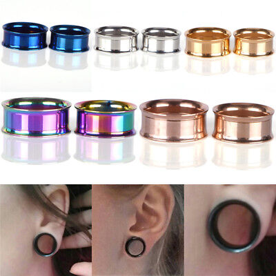 Stainless Steel Screw Ear Gauges Flesh Tunnels Plugs Stretchers Expander METC