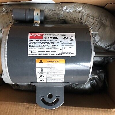 Dayton Air Circulator Motor 4M196 1/4 HP, 115 V, 1075 RPM, 2 Speed
