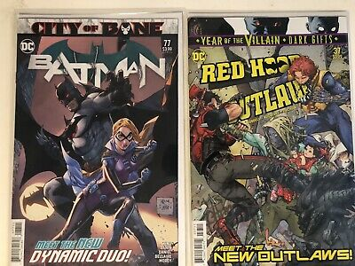 Batman #77 Death Of Alfred Red Hood And The OUTLAWS #37 Lot 1st App Cloud Nine🔥