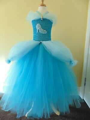 Cinderella Inspired Tutu Dress Age 1,2,3,4,5,6,78,910,11,12