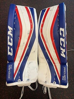 CCM PREMIER R1 9 Intermediate Hockey Goalie Leg Pads 31+1