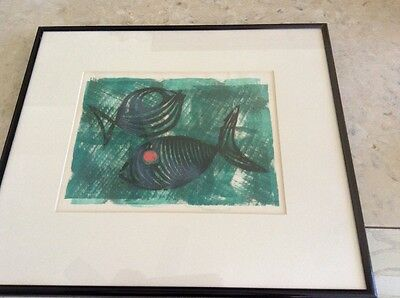 Fish Water Color.  Not sure of artist... Signed Bartort ?   1961