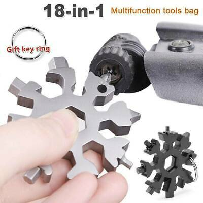 18-in-1 Stainless Steel Outdoor Camping Snowflake Screwdriver Pocket Multi-Tools