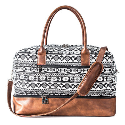 Mealivos Canvas Large Weekend Bag Overnight Travel Carry On Duffel