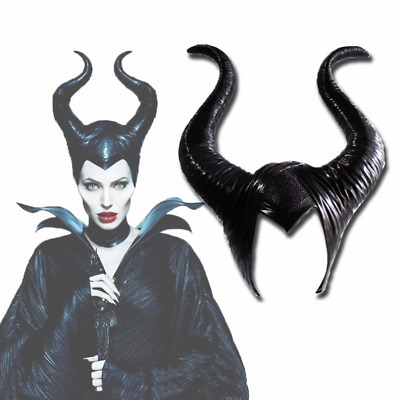 ADULT QUEEN FICENT HORNS HEADPIECE MALEFICENT COSTUME ACCESSORY MR158086