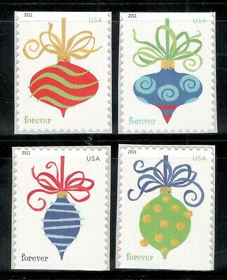 4571-74 Holiday Baubles Forever Set Of 4 Mint/nh Free Shipping (A-239)