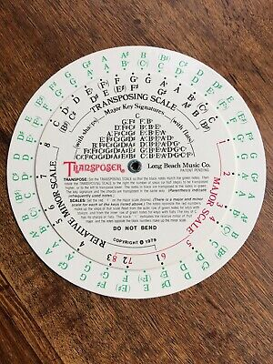 MUSIC TRANSPOSING WHEEL For Transposing Notes Chords and Key