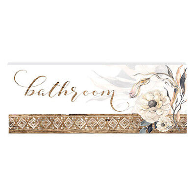 French Country Wall Art Plaque Barn Owl BATHROOM Wooden Sign New