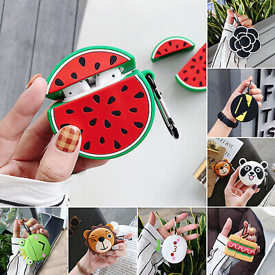 For Apple Airpods Case Cute 3D Cartoon Skin Anti Lost Soft Silicone Airpod Cover