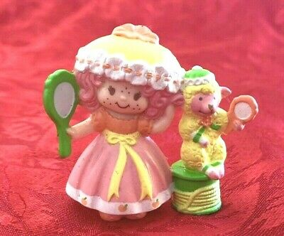 Vintage Strawberry Shortcake Peach Blush With Mirror Mini 1984 Rare