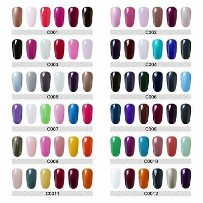 Clavuz 6pcs Kit de Esmaltes de Uñas Gel UV LED Semipermanente Soak off Manicura