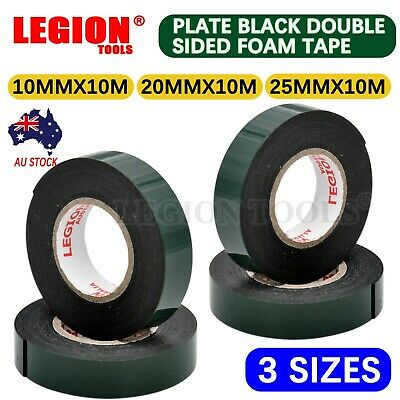 Plate Black Double Sided Foam Tape Waterproof Adhesive Self Car Trim Body Tape