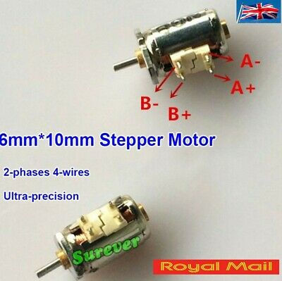Mini 6mm*10mm Precision Stepper Motor 2-phases 4-wires For Digital Camera #M69