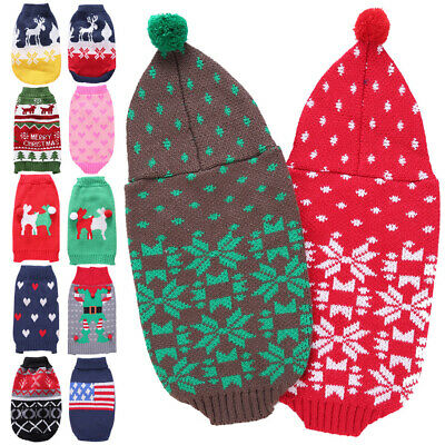 Christmas Pet Dog Cat Puppy Sweater Coats Small Pets Dogs Warm Costume Apparel