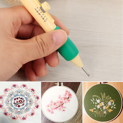 Punch Sewing Tool Craft Embroidery Pen Set Magic Plastic DIY Threaders Needles