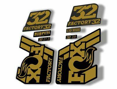 FOX 32 Rhythm 2018 Forks Suspension Factory Decal Sticker Adhesive Yellow