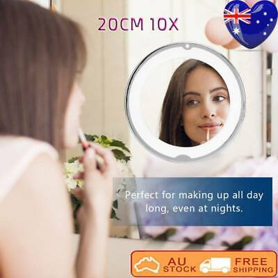 20 cm 10x Magnifying Easy Installation Bathroom Vanity Mirror with LED Light AUS