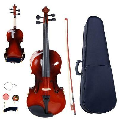 1/4 Maple Acoustic Violin Fiddle with + Case +Bow +Rosin +Tuner+Shoulder Rest