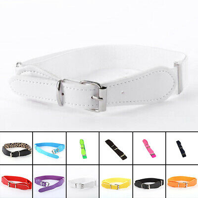 Belt Elastic Colorful Leather Infant Waistband Thin Boy Children Girls