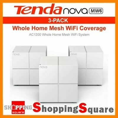 Tenda Nova MW6 AC1200 Whole Home Mesh WiFi System Router LAN Ethernet White Giga