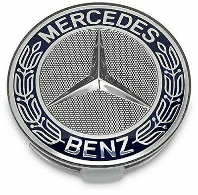 4 x Mercedes Benz Alloy Wheel Centre Replica Caps 75mm Badges Blue Hub Emblem