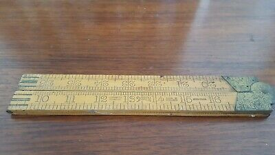 Vintage Made In Holland Sybren Ruler Boxwood Carpenters