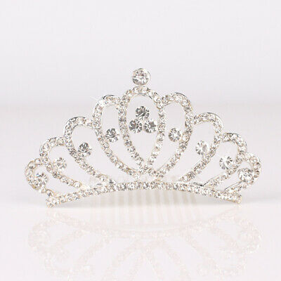 Kids Girl Luxury Headdress Princess Crown Comb Tiara Rhinestone Hair Clip Unique