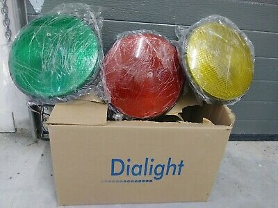 NEW ORIGINAL DIALIGHT 3PACK! Yellow-Red-Green 12 inches LED TRAFFIC LIGHTS