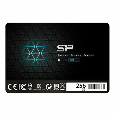"Silicon Power 256GB SSD3D NAND A55 SLC Cache Performance Boost SATA III 2.5"" 7mm"
