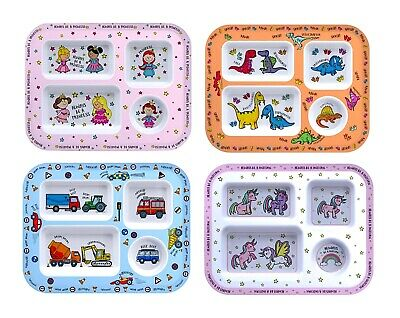 1 x Divided dinner tray for kids, melamine cute baby BOWL PLATE
