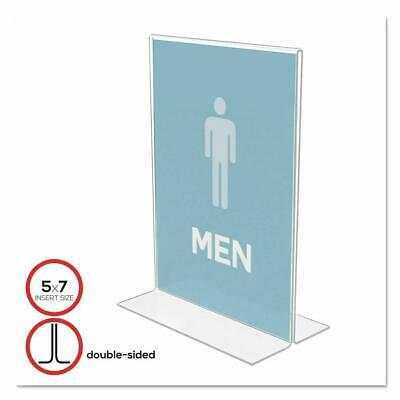 Classic Image Double-Sided Sign Holder, 5 x 7 Insert, Clear Pack of 6