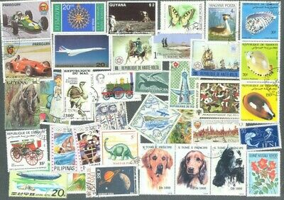 World pictorials Large 1000 all different  stamps collection-Thematics