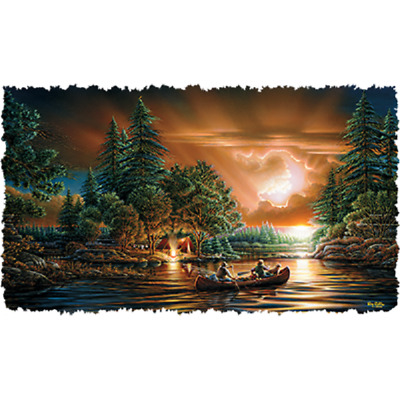 Evening Campfire Canoe Scenery  Beautiful   Tshirt    Sizes/Colors