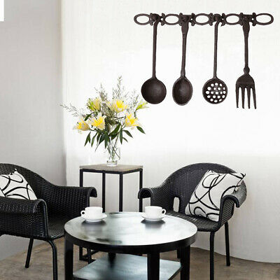 Decorative Iron Antique Hanger with Tableware Utensil Set Kitchen Wall Decor